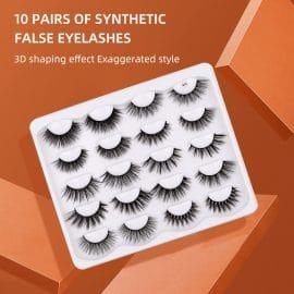 10 Pair Synthetic Eyelashes-S AZYM-S10