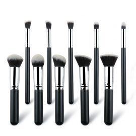 10pcs Black Makeup Brushes ALS-6251