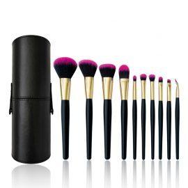 10pcs Black Matte Makeup Brush Set ALS-6102
